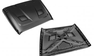 Rugged Ridge Performance Vented Hood Product Image Only High Res